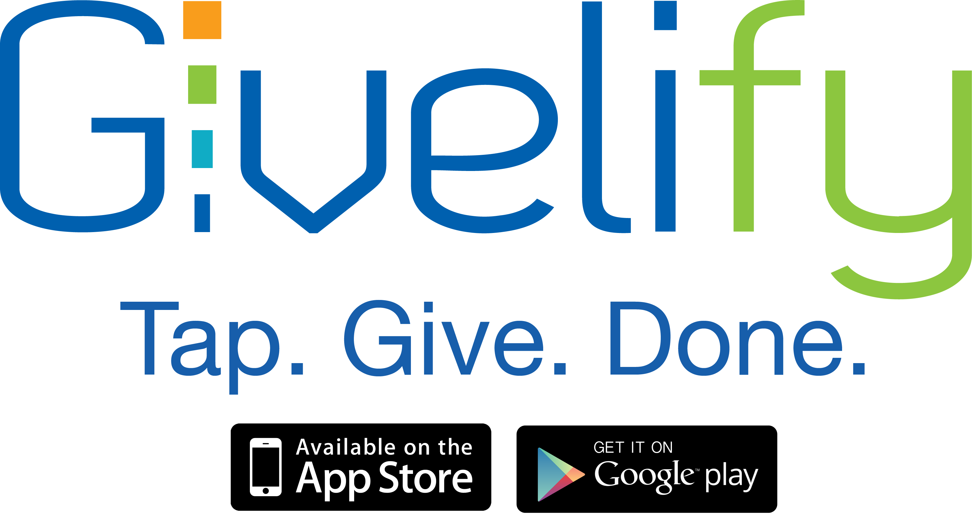 Givelify Logo 300dpi With App Buttons
